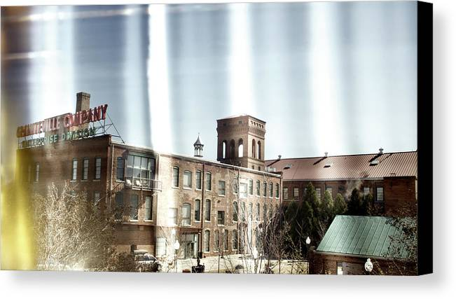 enterprise Mill Canvas Print featuring the photograph Slit Scan 3 by Patrick Biestman