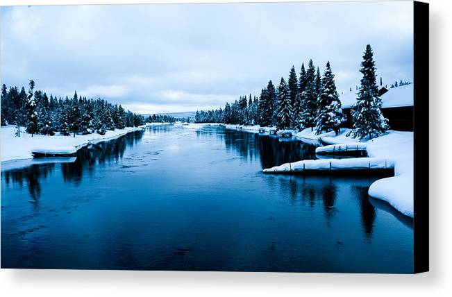 River Canvas Print featuring the photograph Snow River Horizon by Jonathan Horan