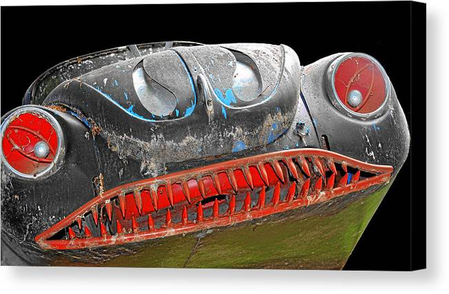 Horror Cars Canvas Print featuring the photograph Some Cars Are Born Bad by Christine Till