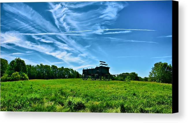 Ladscape Canvas Print featuring the photograph Spring Landscape In Nh 4 by Edward Myers