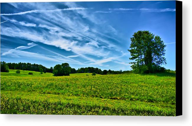 Ladscape Canvas Print featuring the photograph Spring Landscape In Nh by Edward Myers