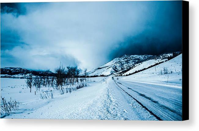 Mountain Canvas Print featuring the photograph Storm On The Mountain by Jonathan Horan