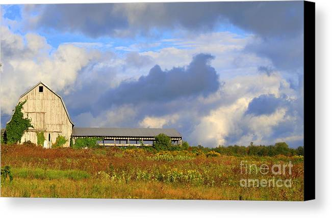 Upstate New York Canvas Print featuring the photograph Stormy Sunday by Debra Kaye McKrill