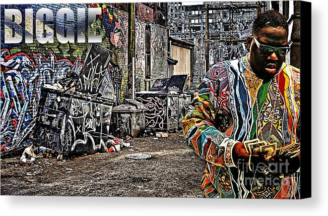 B.i.g Canvas Print featuring the digital art Street Phenomenon Biggie by The DigArtisT