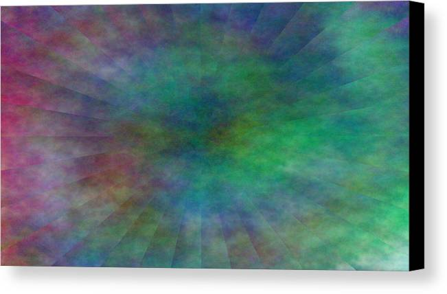 Canvas Print featuring the digital art Structures by Andreas R Wesener