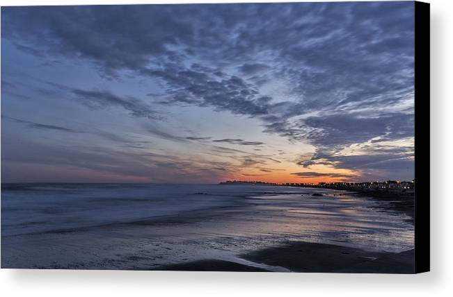 New England Canvas Print featuring the photograph Sunset Over Rye New Hampshire Coastline by Scott Snyder