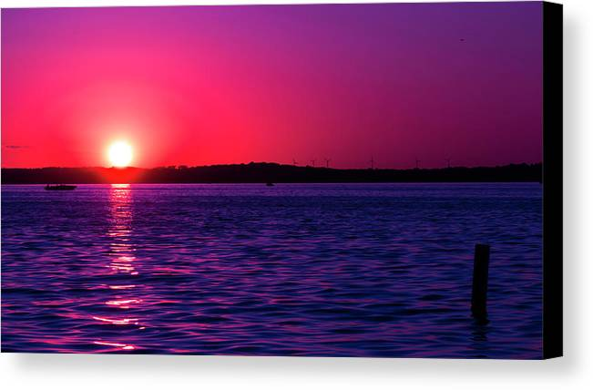 Sunset Canvas Print featuring the photograph Sunsets Happen by Scott Perkins