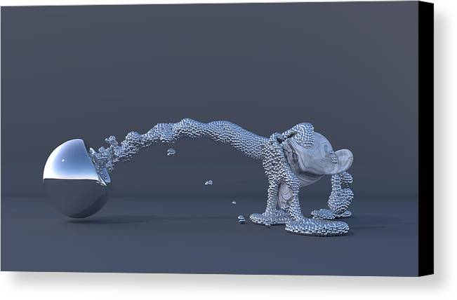 Ball Canvas Print featuring the digital art The Evolution Of Man by Andre Deherrera