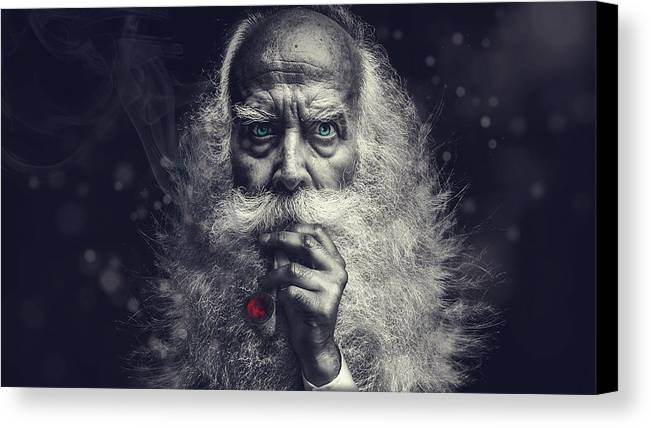 Wizard Canvas Print featuring the photograph The Wizard by Pixabay