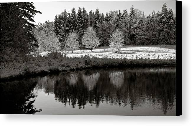 Winter Canvas Print featuring the photograph Winter Scene 3 by Edward Myers