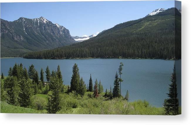 Montana Canvas Print featuring the photograph Big Sky Montana by Jeffrey Akerson