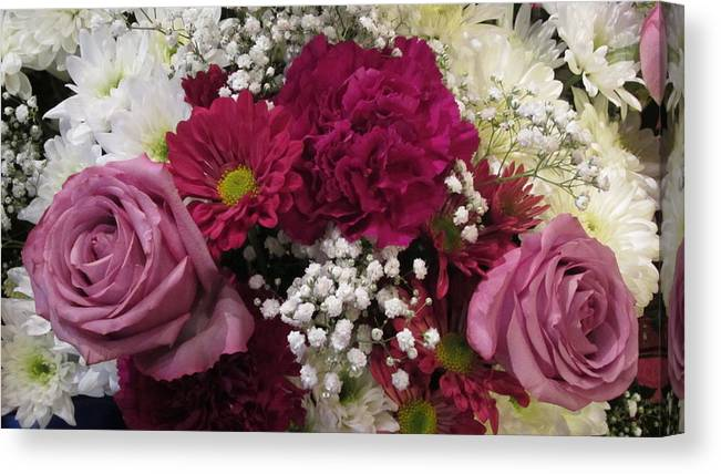 Bouquet Canvas Print featuring the photograph Altar Bouquet by Choi Ling Blakey