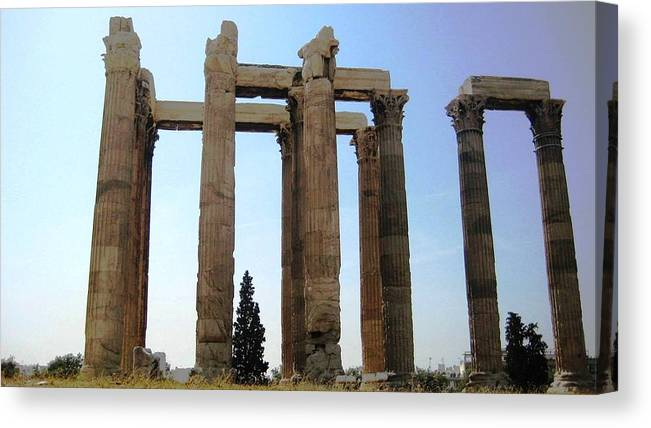 Athens Canvas Print featuring the photograph Athens 4 by Teresa Ruiz