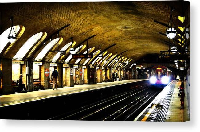 83998386e2f Baker Street Canvas Print featuring the photograph Baker Street London  Underground by Mark Rogan