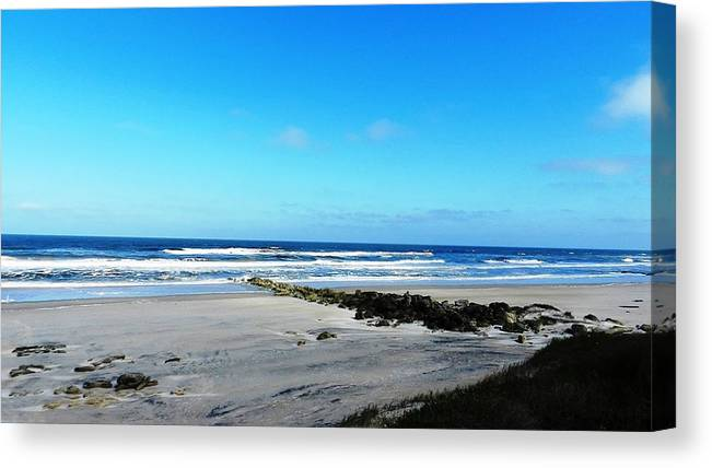 Beaches Canvas Print featuring the photograph Beaches by Yvonne Aguero