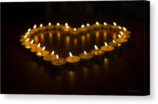 Heart Canvas Print featuring the photograph Burning Heart by MX Designs