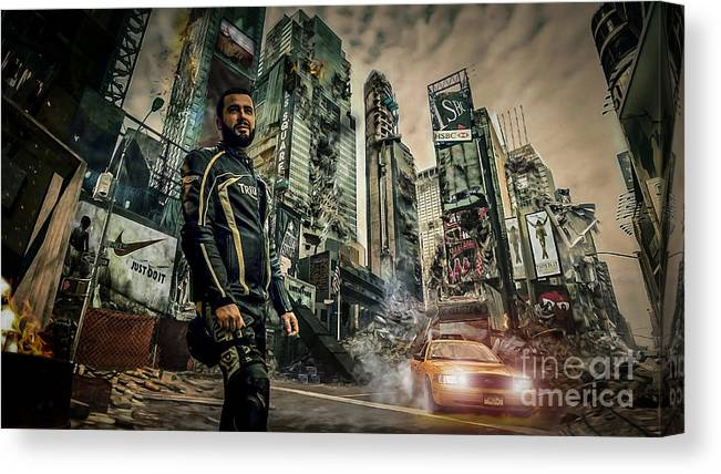 Fantasy Canvas Print featuring the photograph City by Eugenio Moya