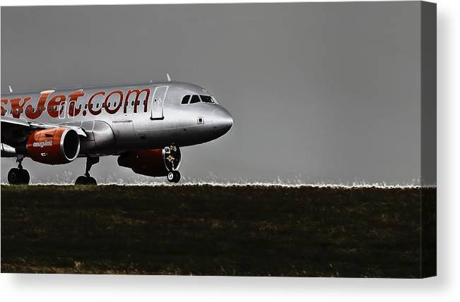 Easyjet Canvas Print featuring the photograph Come Fly With Me by Nigel Jones