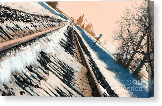 Train Tracks Canvas Print featuring the photograph Destination Unknown by Jamie Grosz