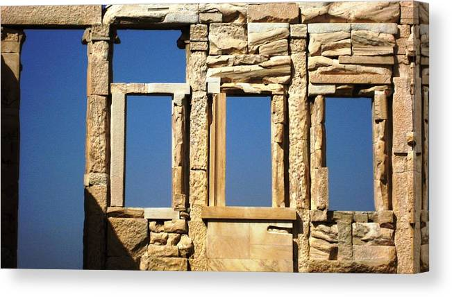 Athens Canvas Print featuring the photograph Erechtheion 7 by Teresa Ruiz