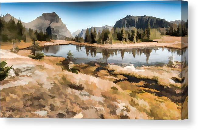 Hidden Lake Trail Canvas Print featuring the photograph Hidden Lake Trail Glacier National Park by Brenda Jacobs