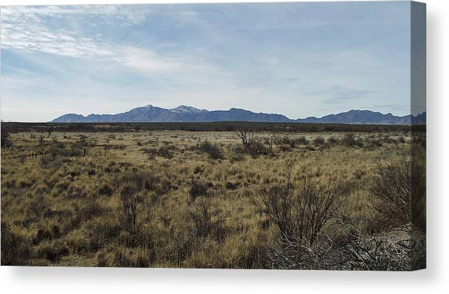 Huachuca Canvas Print featuring the photograph Huachucas by Stephen Ogle
