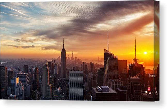New York Canvas Print featuring the photograph I Love New York by Maico Presente