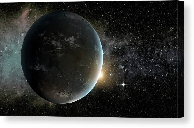 Nobody Canvas Print featuring the photograph Kepler-62f by Nasa/ames/jpl-caltech