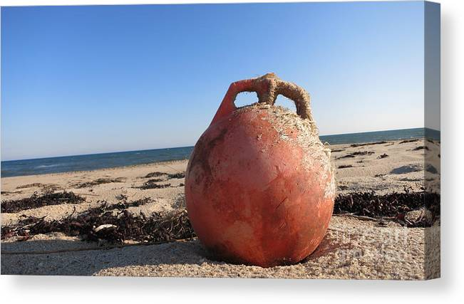 Buoy Canvas Print featuring the photograph Lone Buoy by Chris Keeler