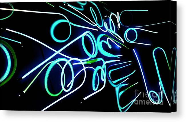 Neon Canvas Print featuring the photograph Neon Abstract by Jessica Panagopoulos