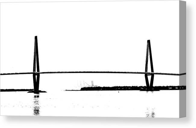 New Cooper River Bridge Canvas Print featuring the photograph New Cooper River Bridge by Philip Zion
