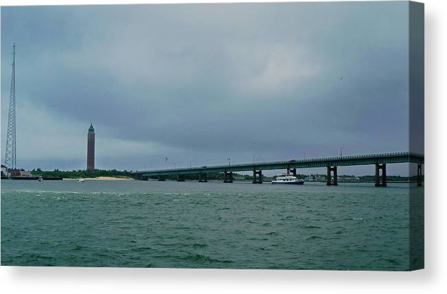 Boating Canvas Print featuring the photograph Obelisk At Fire Island by Tony Ambrosio