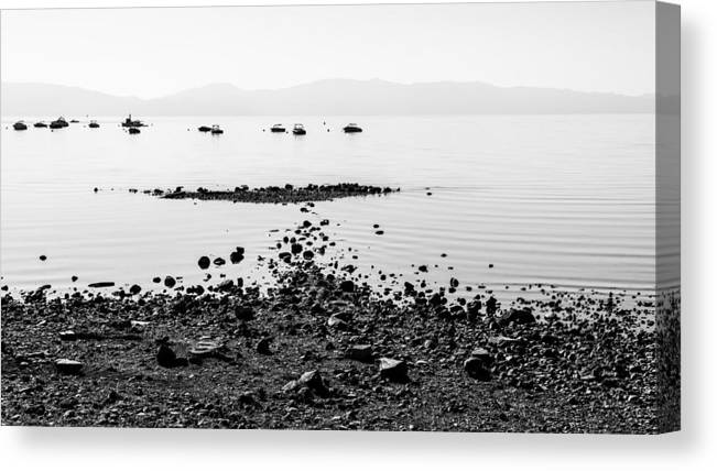 Rocky Beach Canvas Print featuring the photograph Rocky Beach by Chad Dutson