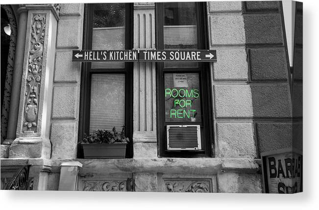 Canvas Print featuring the photograph Rooms For Rent by Jared Windler