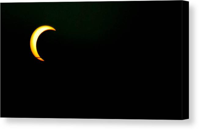 Solar Eclipse Canvas Print featuring the photograph Solar Eclipse 2012 by Angela J Wright