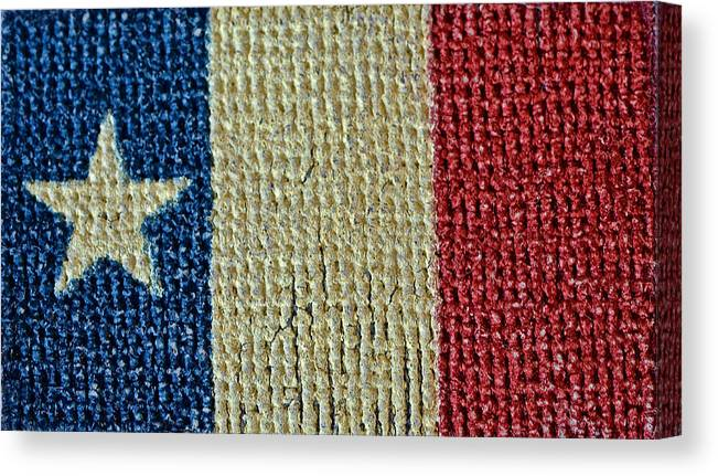 Texas Canvas Print featuring the photograph Texas First Lone Star Dodson's Flag by Bill Owen