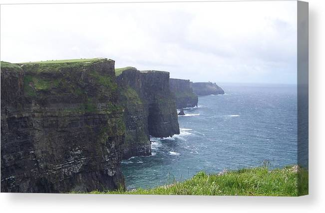Ireland Canvas Print featuring the photograph Clifts Of Moher by Cathryn Brown