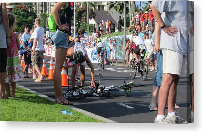 Ironman Canvas Print featuring the photograph Flat Tire by Charles Jennison