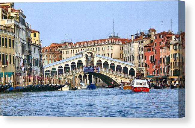 Italy Canvas Print featuring the photograph Grand Canal by Cathryn Brown