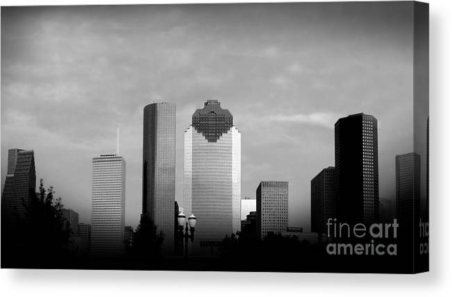 Downtown Houston Canvas Print featuring the photograph Houston by Jose Luis Reyes