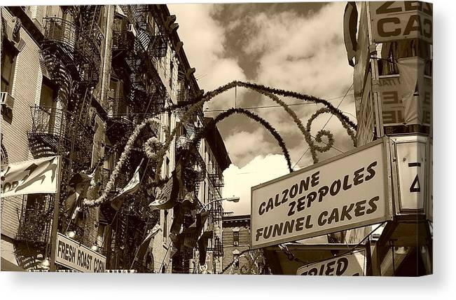 San Gennaro Canvas Print featuring the photograph Little Italy by Catie Canetti
