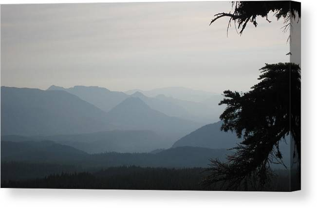 Tenas Lakes Canvas Print featuring the photograph Moody 2 by Lisa Spencer Osterhoudt
