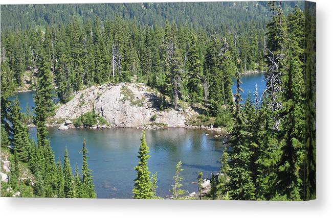Lakes Canvas Print featuring the photograph Mt. Jefferson Park by Lisa Spencer Osterhoudt