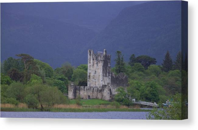 Ireland Canvas Print featuring the photograph Ross Castle by Cathryn Brown
