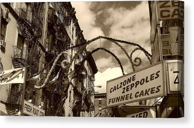 San Gennaro Canvas Print featuring the photograph San Gennaro by Catie Canetti