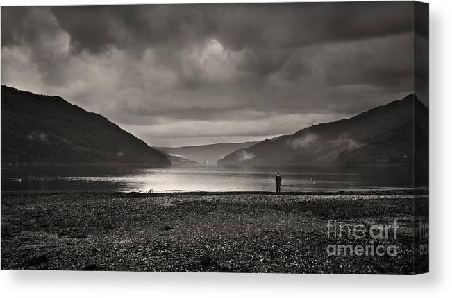 Monochrome Canvas Print featuring the photograph Solitude by Paul Holman