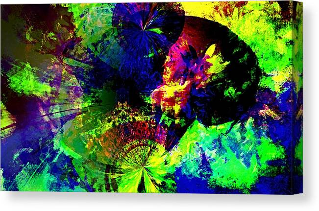 Abstract Urban Art Canvas Print featuring the digital art Abstract by Galeria Trompiz