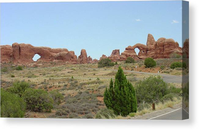 Arches National Park Canvas Print featuring the photograph Arches National Park 21 by Dawn Amber Hood