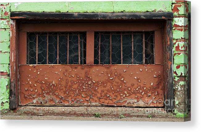 Old Canvas Print featuring the photograph Barred And Weathered by Royce Howland