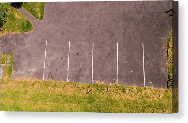 Abstract Canvas Print featuring the photograph Car Parking Bays by Kelly Jenkins